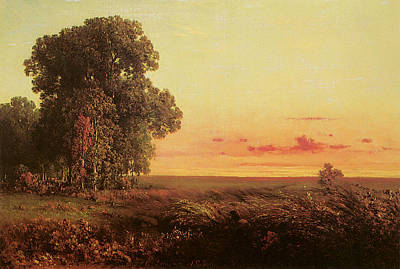 Prairie Sunset Painting - Afterglow On The Prairie by George Inness