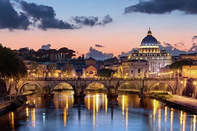 Afterglow, St Peters Basilica, Rome Art Print by Joe Daniel Price