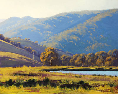 Impressionism Royalty-Free and Rights-Managed Images - Afternnon Light Lithgow by Graham Gercken