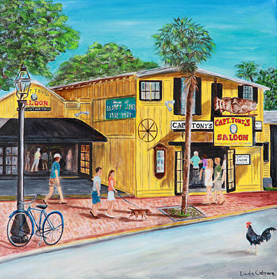Painting - Afternoon At Capt. Tony's by Linda Cabrera
