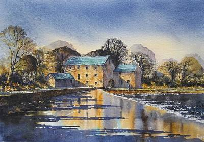 Mullin Painting - Afternoon At Mullins Mill Kilkenny by Roland Byrne