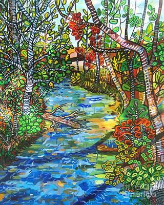 Painting - Afternoon At The Creek by Deborah Glasgow