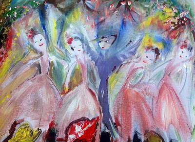 Afternoon Bird Ballet Art Print by Judith Desrosiers