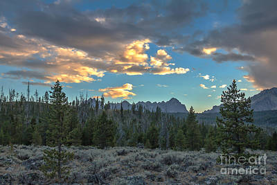 Photograph - Afternoon Clouds And The Sawtooth Mountains by Robert Bales