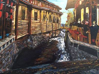 Afternoon Delight In Old Town Of Lijiang Art Print