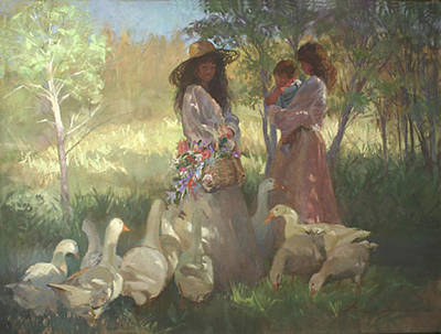 Betty Billups Painting - Afternoon Gathering by Betty Jean Billups