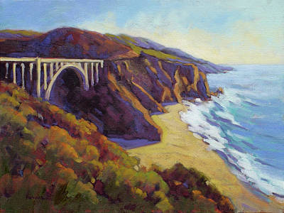 Painting - Afternoon Glow 3 / Big Sur by Konnie Kim