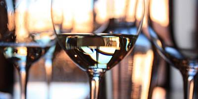 Wine Reflection Art Photograph - Afternoon Glow 7 by Penelope Moore
