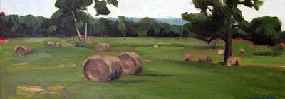 Painting - Afternoon Hay by Erin Rickelton