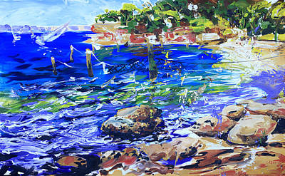 Shirley Painting - Afternoon Hues Nielsen Park Sydney by Shirley  Peters