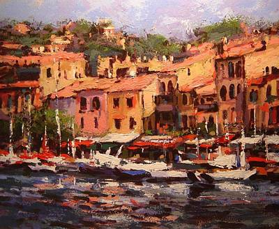 Afternoon In Cassis Print by R W Goetting