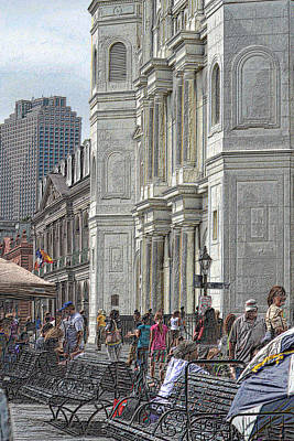 Photograph - Afternoon In Jackson Square by Nadalyn Larsen