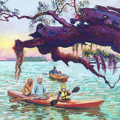 Painting - Afternoon Kayak by David Randall