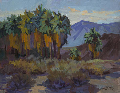 Afternoon Light At Thousand Palms Art Print by Diane McClary