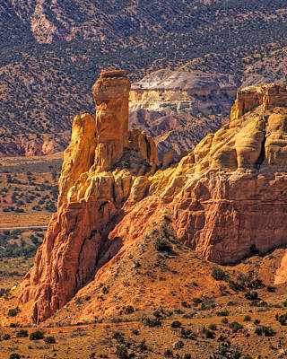 Photograph - Afternoon  Light On Chimney Rock At Ghost Ranch by Alan Vance Ley