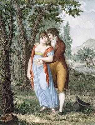 Embrace Drawing - Afternoon Near St. Gervais, Engraved by French School