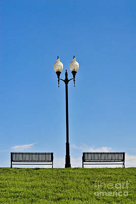 Park Benches Photograph - Afternoon Outdoors by Liesl Marelli