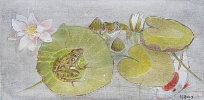 Lilly Pond Painting - Afternoon Pause by Hannah Boynton