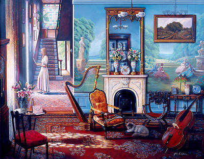 Painting - Afternoon Reminiscence by John P. O'brien