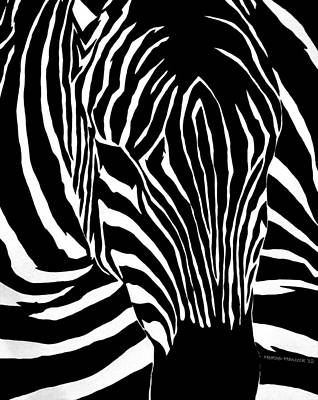 South Africa Zebra Painting - Afternoon Rest by Heather Hancock