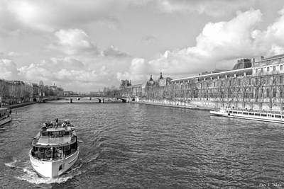 Photograph - Afternoon River Cruise On The Seine - Paris by Mark E Tisdale