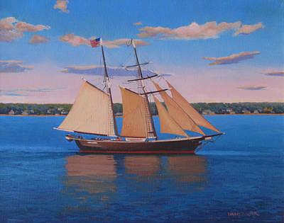 Afternoon Sail Art Print by Dianne Panarelli Miller