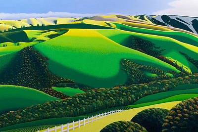Bay Area Painting - Afternoon Shadows by Michael Wicksted
