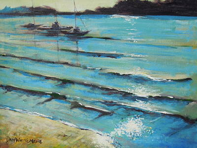 Painting - Afternoon Shoreline by Dan Whittemore