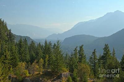 Photograph - Afternoon Smoke At The Tantalus Mountains by Adam Jewell