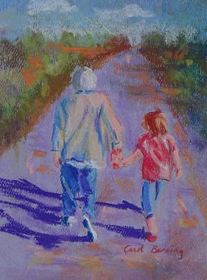 Afternoon Stroll Art Print by Carol Berning