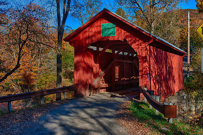 Photograph - Afternoon Sun On Covered Bridge by Jeff Folger