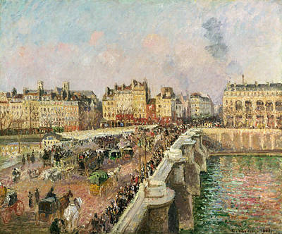 Afternoon Sunshine. Pont Neuf Art Print by Camille Pissarro