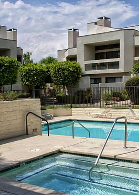 Afternoon Swim Palm Springs Art Print
