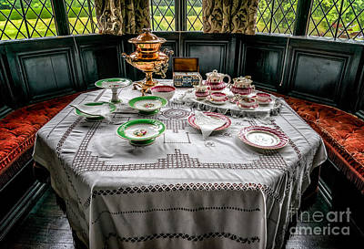 Table Cloth Photograph - Afternoon Tea by Adrian Evans