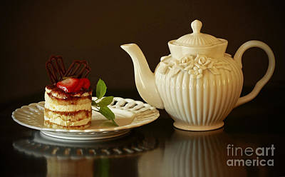 Afternoon Tea And Tiramisu Art Print by Inspired Nature Photography Fine Art Photography