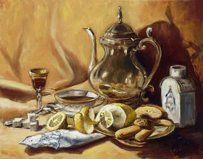 Still Life Painting - Afternoon Tea by Irek Szelag