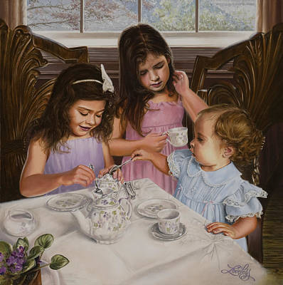 Teacup Painting - Afternoon Tea by James Loveless
