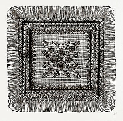 Afternoon Teacloth, Needlework Art Print by Litz Collection