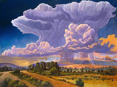 Art Print featuring the painting Afternoon Thunder by Art James West