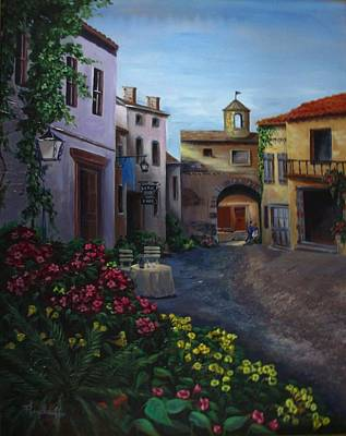 Painting - Afternoon Wine by Pat Heydlauff