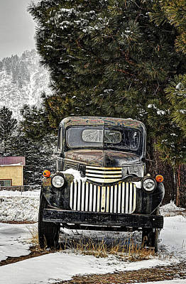 Afther The Snow Falls Verticle Art Print by Ken Smith