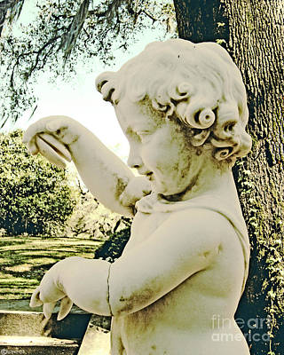 Digital Art - Afton Plantation Garden Cherub by Lizi Beard-Ward
