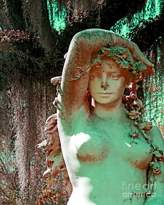Digital Art - Afton Plantation Garden Statuary  by Lizi Beard-Ward