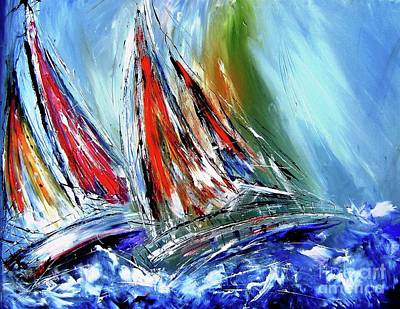 Skillful Sailors Like  Stormy Seas Art Print