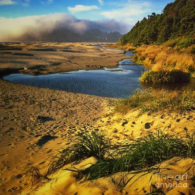 Agate Beach Oregon Photograph - Agate Beach Sunset by Andrea Gingerich