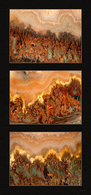 Photograph - Agate Triptych 4 by Leland D Howard