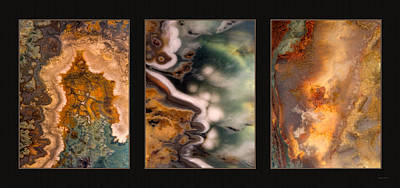 Photograph - Agate Triptych 5 by Leland D Howard