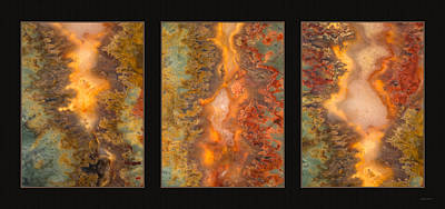 Photograph - Agate Triptych 6 by Leland D Howard