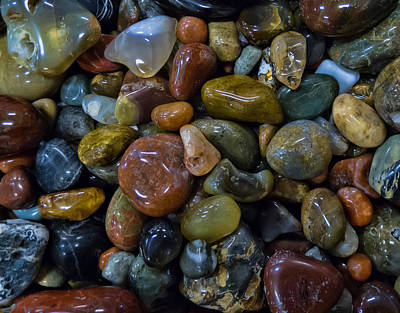 Photograph - Agates Pillow by HW Kateley