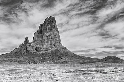 Agathla Peak Bw Art Print by Jerry Fornarotto
